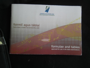 Formulae and Tables approved for use in the state examinations