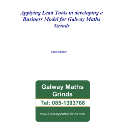 Applying Lean Tools to Galway Maths Grinds Business Model