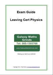Exam Guide - Leaving Cert Physics