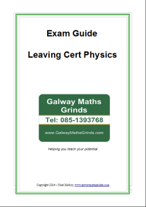 Exam Guide - Leaving Cert Physics