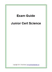 Exam Guide - Junior Cert Science