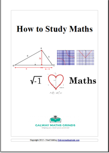 How to study maths cover